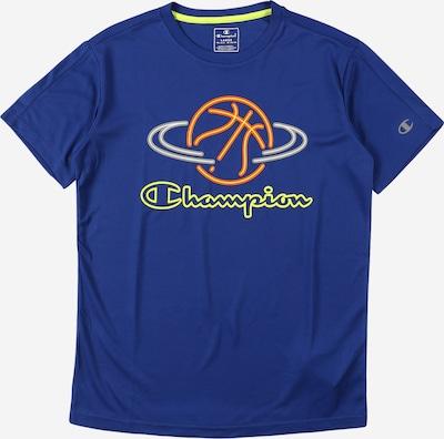 Champion Authentic Athletic Apparel T-Shirt in blau / gelb / grau / orange / weiß, Produktansicht