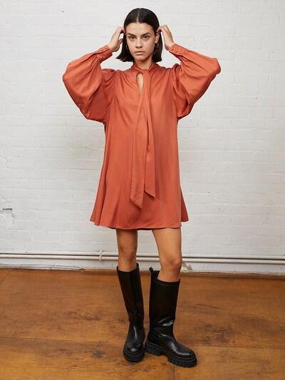 Aligne Kleid 'Edie' in rostrot, Modelansicht