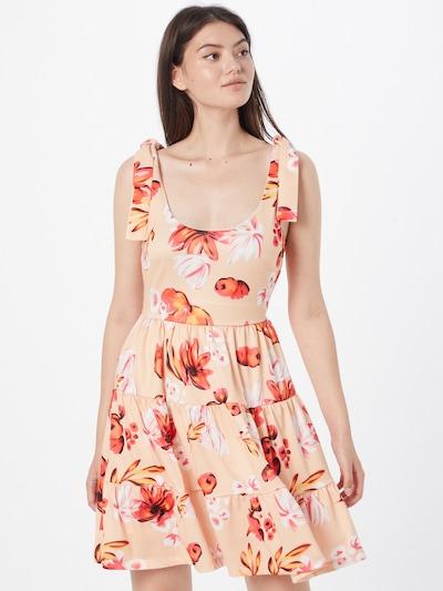 Trendyol Kleid in creme / orange / hellorange / rot / schwarz, Modelansicht