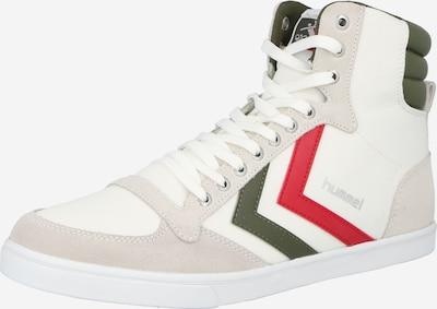 Sneaker înalt 'Slimmer Stadil' Hummel pe gri deschis / oliv / roșu rodie / alb, Vizualizare produs