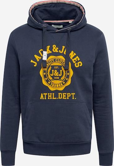 JACK & JONES Sweat-shirt en bleu marine / jaune, Vue avec produit
