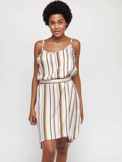 mazine Striped Dress ' Pinetta ' in khaki, Modelansicht