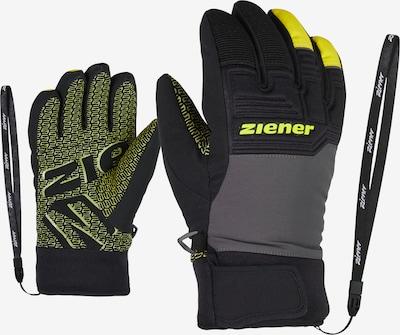 ZIENER Skihandschuhe 'LANUS AS(R) PR glove junior' in neongelb / grau / schwarz, Produktansicht