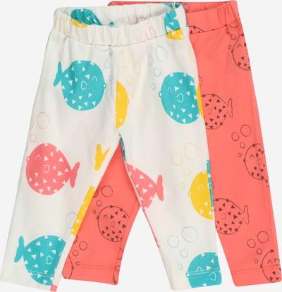 Lucy & Sam Leggings 'Finding Fugu' in de kleur Turquoise / Geel / Antraciet / Zalm roze / Wit, Productweergave