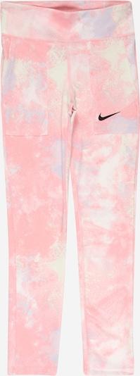 NIKE Sporta bikses opālisks / pasteļdzeltens / rožkrāsas / melns, Preces skats