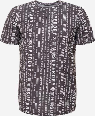 Superdry T-Shirt fonctionnel en noir / blanc: Vue de face