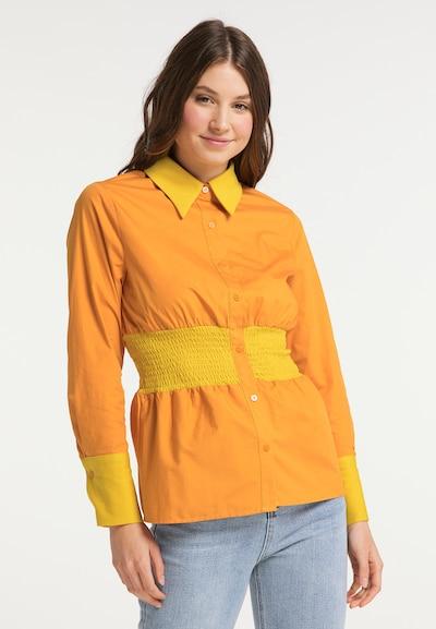 MYMO Bluse in gelb / orange, Modelansicht