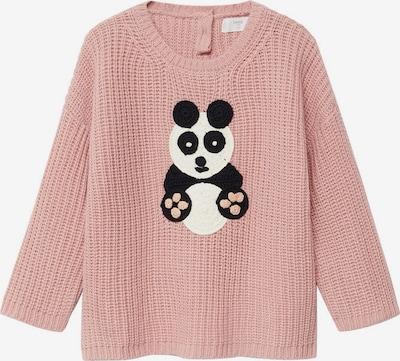 MANGO KIDS Svetr 'Panda' - pink / černá / bílá, Produkt