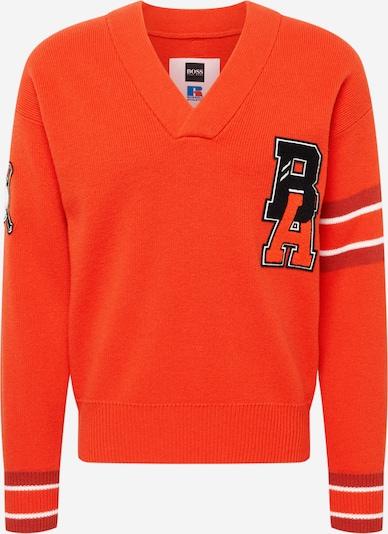 BOSS Sweater in Dark orange / Black / White, Item view