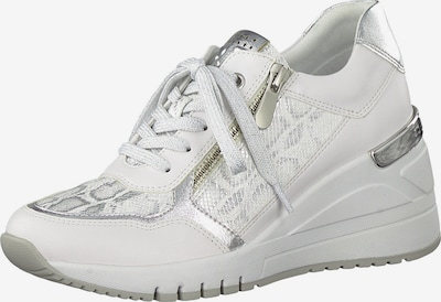 Sneaker low MARCO TOZZI pe gri / alb, Vizualizare produs