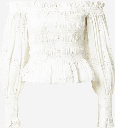 AllSaints Μπλούζα 'Lara' σε καφέ / λευκό, Άποψη προϊόντος