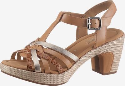 GABOR Sandale in braun / silber, Produktansicht