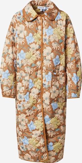 EDITED Χειμερινό παλτό 'Mallory' σε γαλάζιο / χακί / σμαραγδί / πούδρα, Άποψη προϊόντος