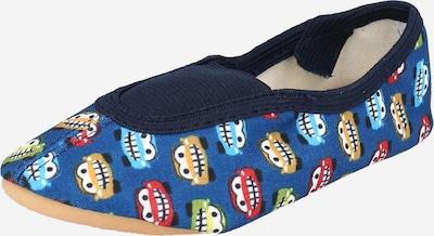 BECK Mājas apavi 'Buzzer' karaliski zils / debeszils / sinepjkrāsas / kivi / sarkans, Preces skats
