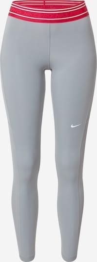 NIKE Sportske hlače u siva / crvena / bijela, Pregled proizvoda