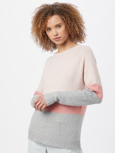 VERO MODA Jersey 'DOFFY' en gris / rosa / rojo claro, Vista del modelo