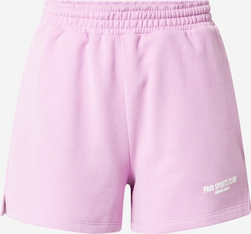 PARI Shorts 'SPORTS CLUB' in Lila