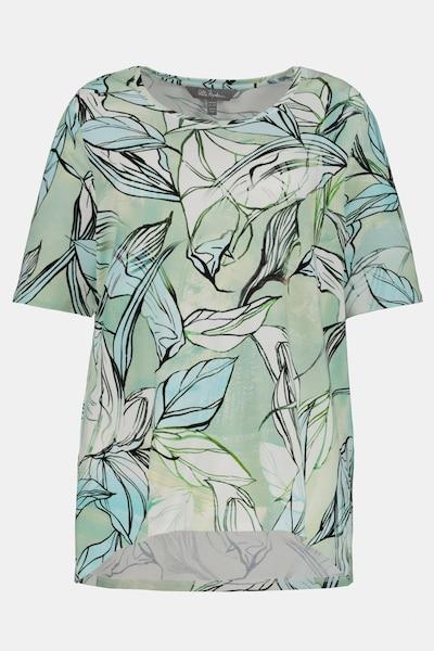 Ulla Popken Ulla Popken Damen große Größen Shirt 748021 in türkis: Frontalansicht