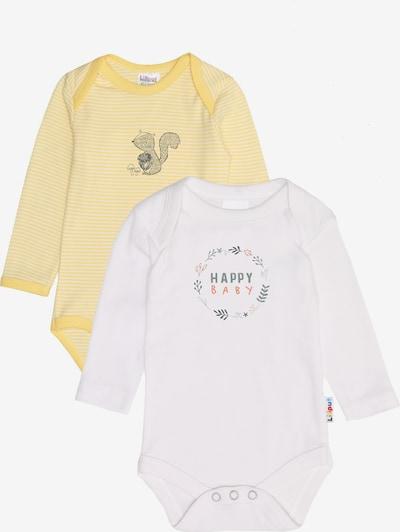 """LILIPUT Langarmbody """"Eichhörnchen""""/  """"Happy Baby"""" in gelb / weiß, Produktansicht"""
