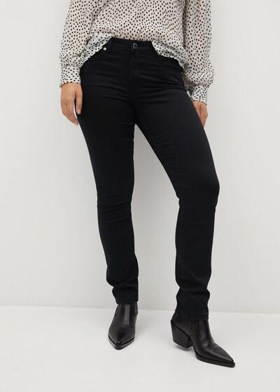 VIOLETA by Mango Jeans 'Valentin' in black denim: Frontalansicht
