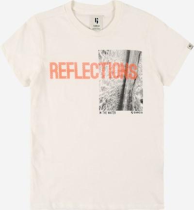 GARCIA Majica u narančasta / crna / prljavo bijela, Pregled proizvoda