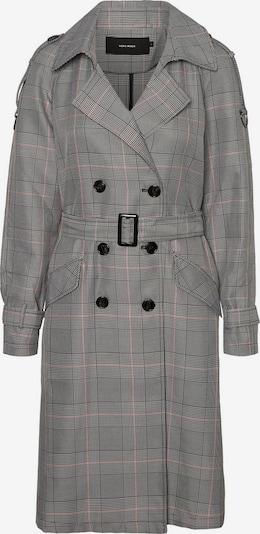 VERO MODA Manteau mi-saison en gris / rose / noir, Vue avec produit