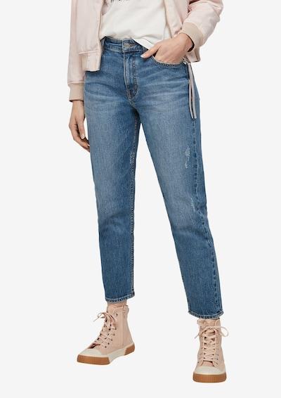 s.Oliver Regular Fit: Boyfriend-Jeans in blau / blue denim, Modelansicht