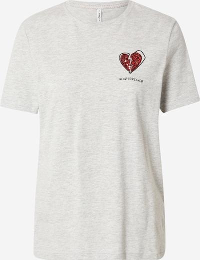 ONLY Tričko 'ONLKITA' - svetlosivá / červená, Produkt