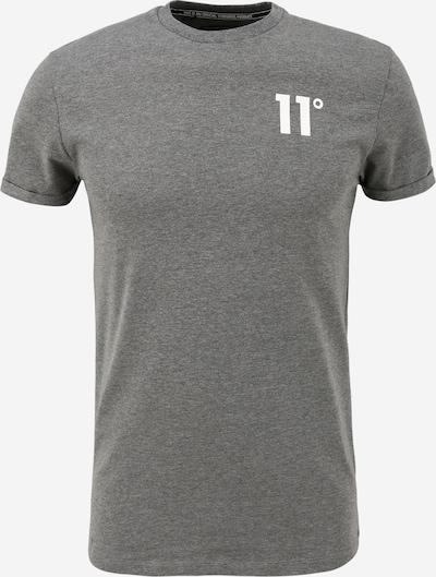 11 Degrees T-Shirt en gris chiné / blanc, Vue avec produit