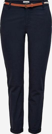 ONLY Chino hlače 'Biana' u tamno plava / smeđa / bijela, Pregled proizvoda