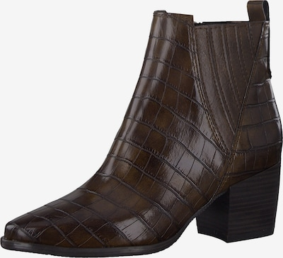 MARCO TOZZI Ankle Boots in dunkelbraun: Frontalansicht