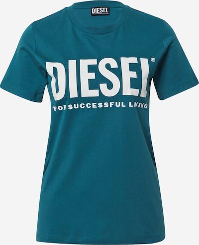 DIESEL T-Shirt in petrol / weiß, Produktansicht
