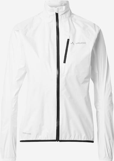 VAUDE Trainingsjack 'Drop III' in de kleur Basaltgrijs / Zwart / Wit, Productweergave