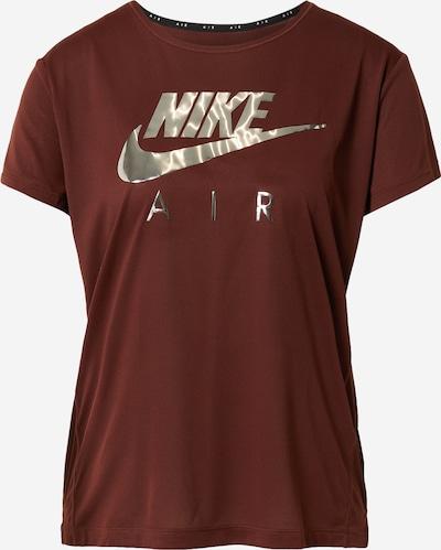 NIKE Sportshirt in rostbraun / silber, Produktansicht