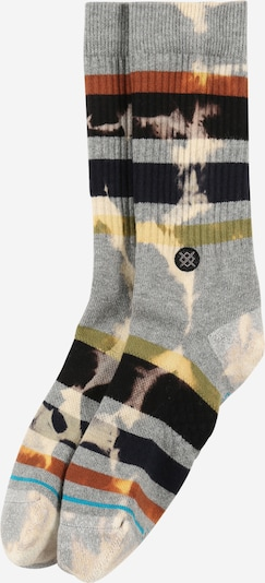 Stance Chaussettes de sport 'BRONG' en turquoise / rouille / jaune pastel / gris chiné / noir, Vue avec produit