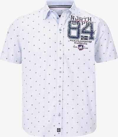 Jan Vanderstorm Hemd 'Livni' in marine / hellblau / weiß, Produktansicht