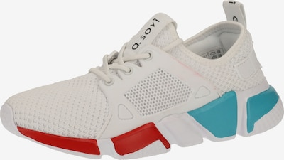 a.soyi Sneakers laag in de kleur Blauw / Rood / Wit, Productweergave