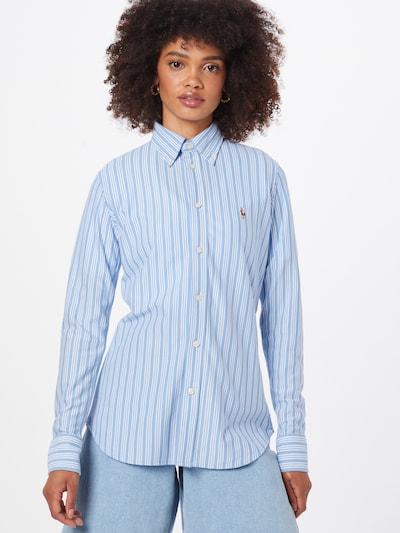 Bluză 'HEIDI' POLO RALPH LAUREN pe albastru deschis / maro / alb, Vizualizare model