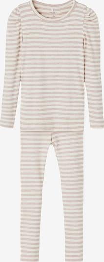 NAME IT Pyjamas 'Nialie' i rosa / vit: Sedd framifrån
