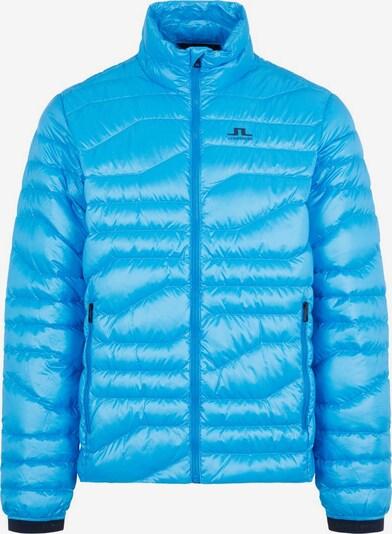 J.Lindeberg Functionele jas in de kleur Blauw / Zwart: Vooraanzicht