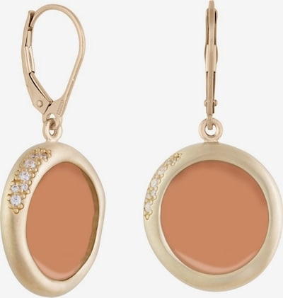 Zoccai Earrings in Gold / Orange / Silver, Item view
