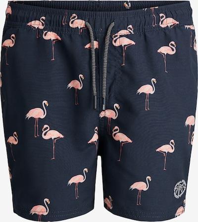 Jack & Jones Junior Шорти за плуване 'Bali' в нощно синьо / антично розово / бяло, Преглед на продукта