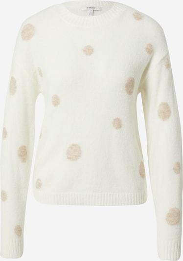 b.young Pullover 'MARTINE' in nude / weiß, Produktansicht