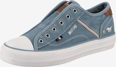 MUSTANG Sneakers Low in blue denim, Produktansicht
