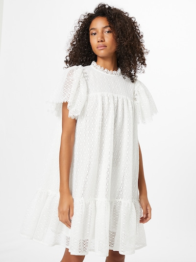 Stella Nova Kleid 'Pen' in weiß: Frontalansicht