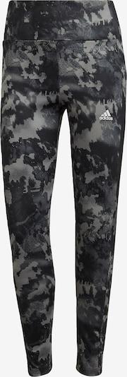ADIDAS PERFORMANCE Sportbroek in de kleur Grijs / Zwart / Wit, Productweergave