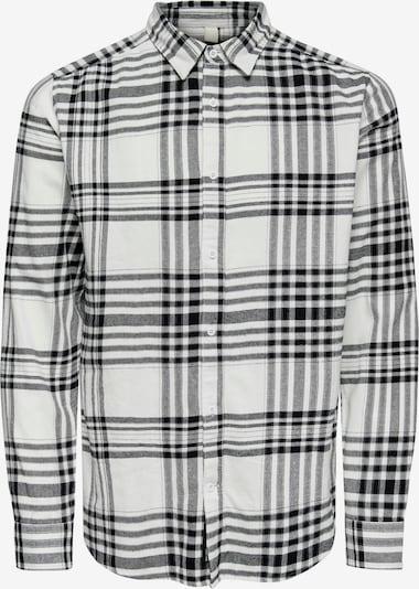Only & Sons Skjorta 'Nate' i svart / vit, Produktvy
