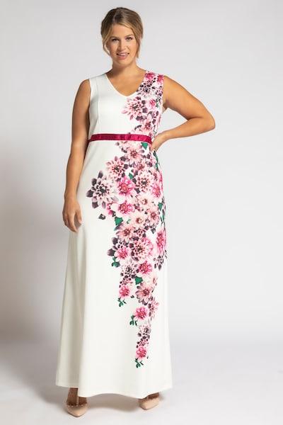 Ulla Popken Kleid in pink / weiß, Modelansicht