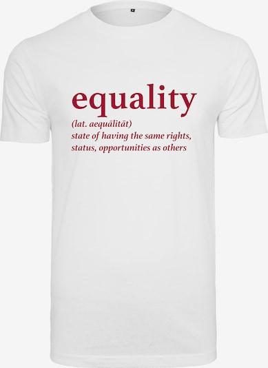 Merchcode Damen 'Ladies Equality Definition Tee' in weiß, Produktansicht