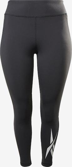 REEBOK Sportovní kalhoty - černá / bílá, Produkt